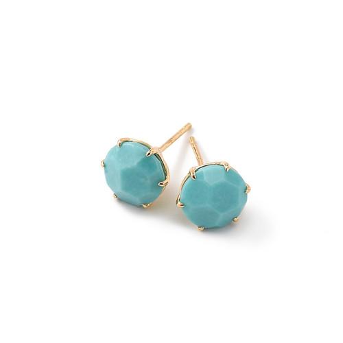 Medium Round Stud Earrings in 18K Gold GE1433TQ