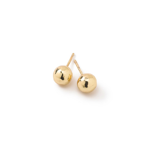 Small Hammered Ball Stud Earrings in 18K Gold GE1443