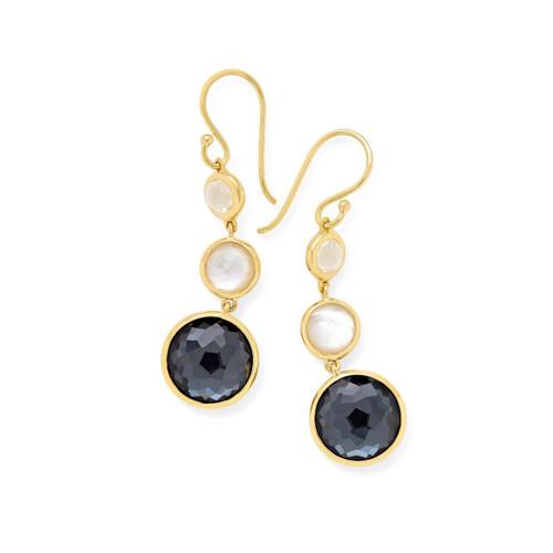 Lollitini 3-Stone Drop Earrings in 18K Gold GE1529PIAZZA-PA