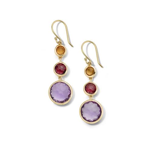 Lollitini 3-Stone Drop Earrings in 18K Gold GE1529SONOMA