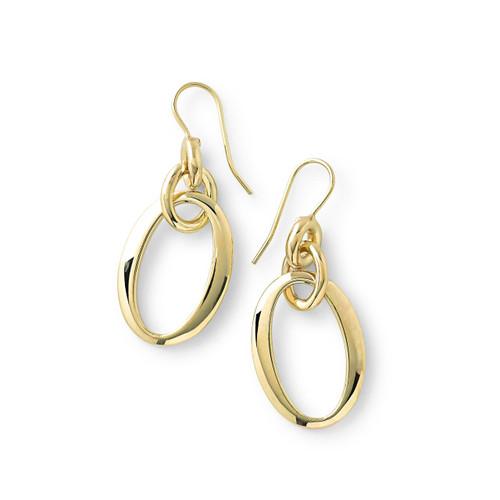 Short Oval Link Earrings in 18K Gold GE1534