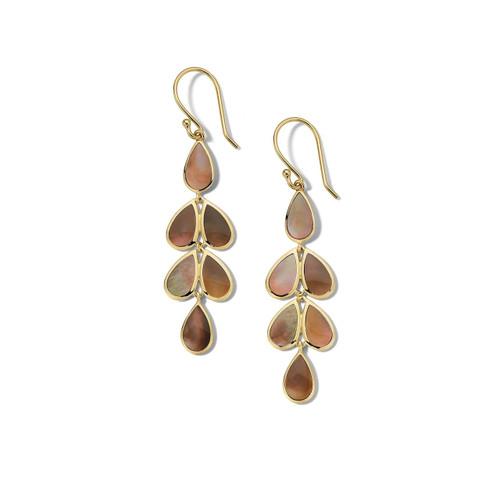 Multi Stone Teardrop Earrings in 18K Gold GE1544BRL