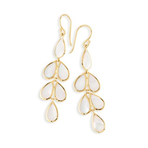 Multi Stone Teardrop Earrings in 18K Gold GE1544MOP