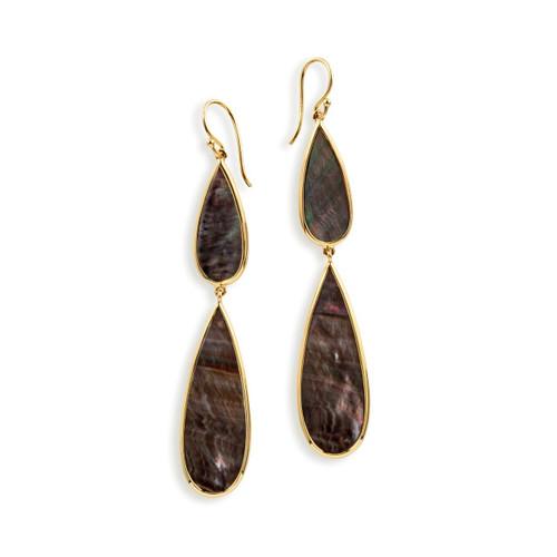 Double Teardrop Earrings in 18K Gold GE1546BKL