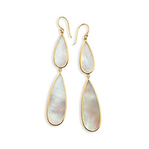 Double Teardrop Earrings in 18K Gold GE1546MOP