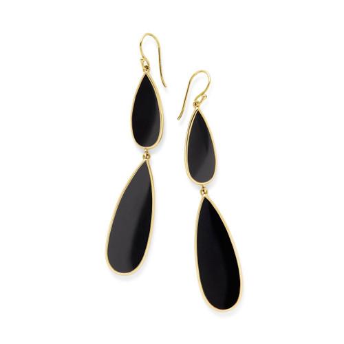 Double Teardrop Earrings in 18K Gold GE1546NX