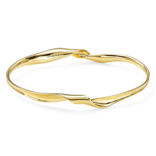 Twisted Ribbon Bangle Bracelet in 18K Gold GB1010-PA