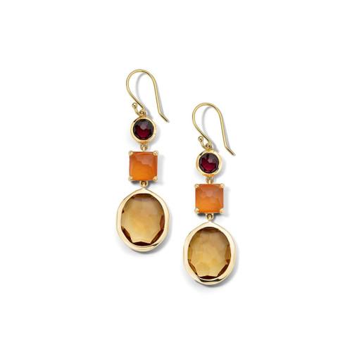 3-Stone Drop Earrings in 18K Gold GE1554SONOMA