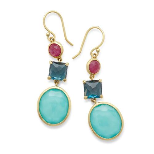 3-Stone Drop Earrings in 18K Gold GE1554SUMRAIN