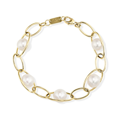 Multi-Size Link Bracelet in 18K Gold GB1018PRL