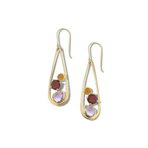 Multi-Stone Teardrop Earrings in 18K Gold GE1647SONOMA