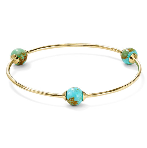 3-Station Bangle in 18K Gold GB1021TQGM