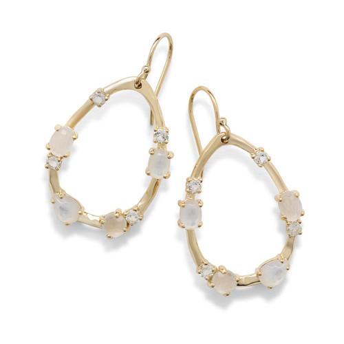 Medium Multi Stone Frame Earrings in 18K Gold GE1777FLIRT