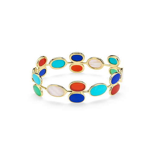 All Around Oval Stone Bangle in 18K Gold GB1026RIV