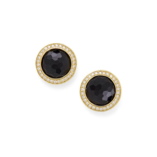 Stud Earrings in 18K Gold with Diamonds GE1857NXDIA