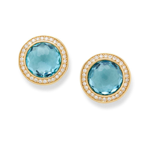 Stud Earrings in 18K Gold with Diamonds GE1857SBTDIA