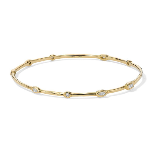 Fancy Bangle in 18K Gold with Diamonds GB1062DIA