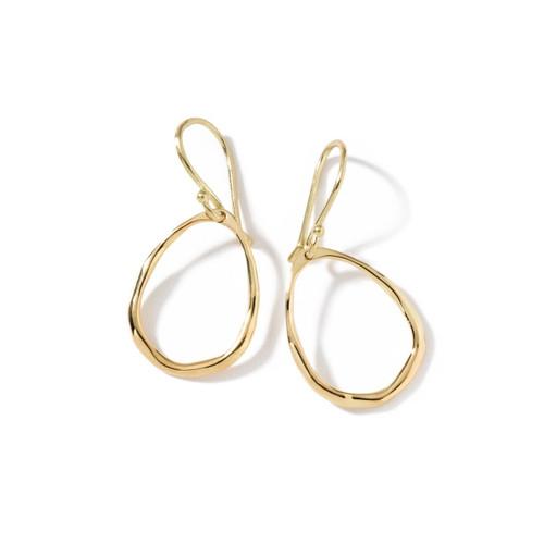 Mini Squiggle Teardrop Earrings in 18K Gold GE198