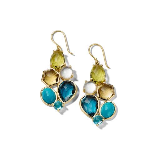 6-Stone Cluster Earrings in 18K Gold GE2033OASIS