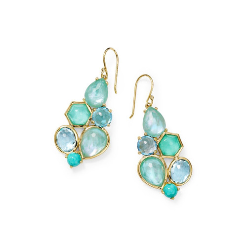 6 Stone Cluster Earrings in 18K Gold GE2033WATERFALL