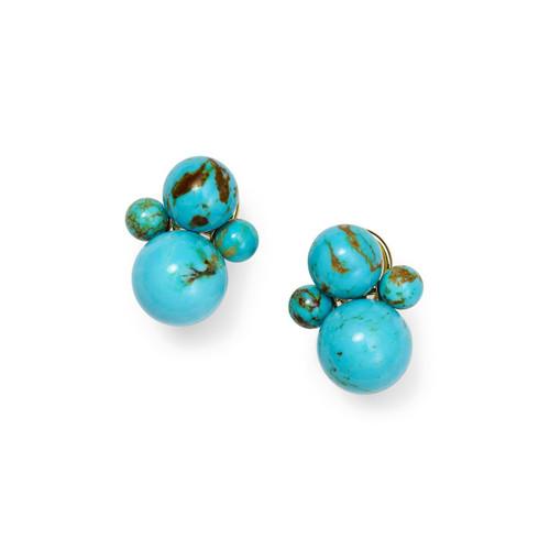 4-Bead Snowman Earrings in 18K Gold GE2042TQGM