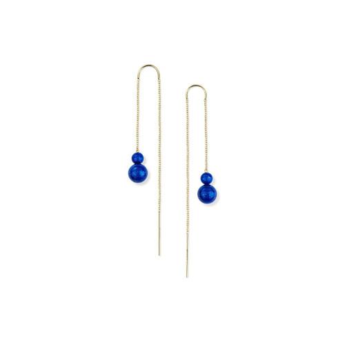 2-Stone Drop Thread Earrings in 18K Gold GE2047LP