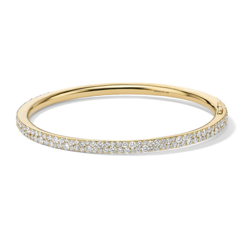 Hinged Bangle in 18K Gold with Diamonds GB1071DIA