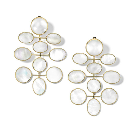 Jumbo Mobile Drop Clip Earrings in 18K Gold GE2091MOPCLIP