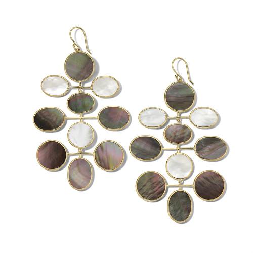 Jumbo Mobile Drop Earrings in 18K Gold GE2091SABBIA