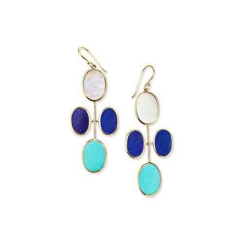 Elongated Oval Clover Earrings in 18K Gold GE2096VIAREGGIO