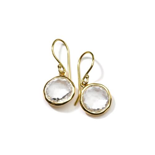 Small Single Drop Earrings in 18K Gold GE209CQ