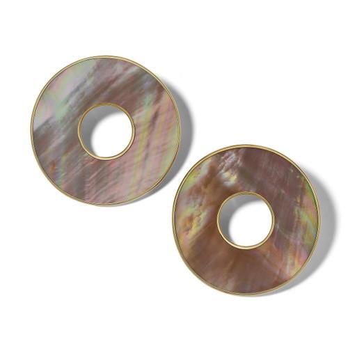 Donut Slice Clip Earring in 18K Gold GE2134BRLCLIP