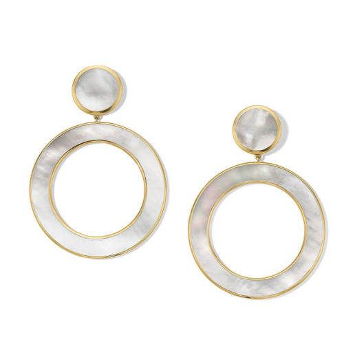 Dot and Open Circle Earrings in 18K Gold GE2139MOPMOP