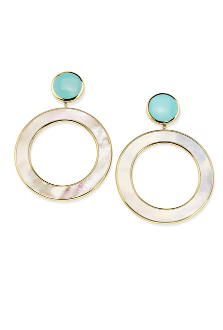 Dot and Open Circle Earrings in 18K Gold GE2139MOPTQ
