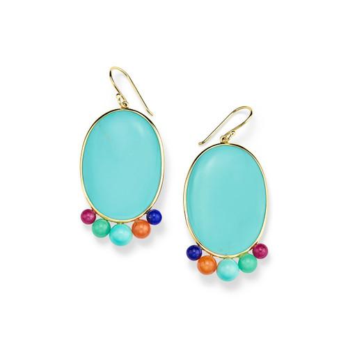 Medium Oval Earrings in 18K Gold GE2141RIVTQ