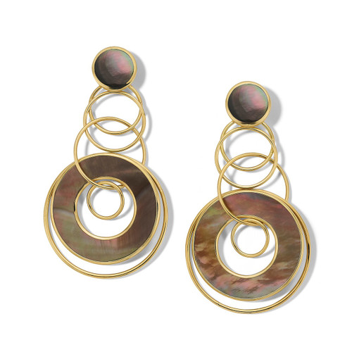 Medium Jet Set Earrings in 18K Gold GE2164BRL