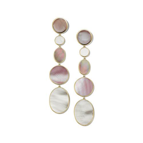 Extra Long Mixed Shape Earrings in 18K Gold GE2165DAHLIA