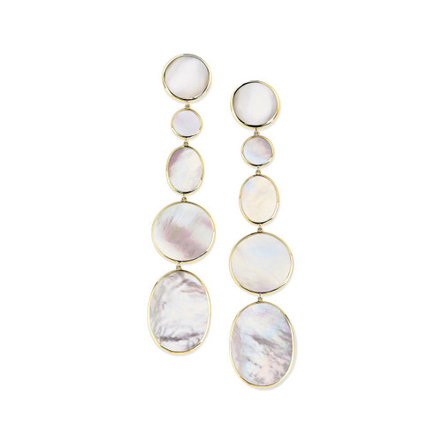 Extra Long Mixed Shape Earrings in 18K Gold GE2165MOP