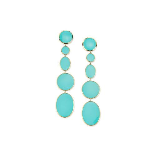 Extra Long Mixed Shape Earrings in 18K Gold GE2165TQ