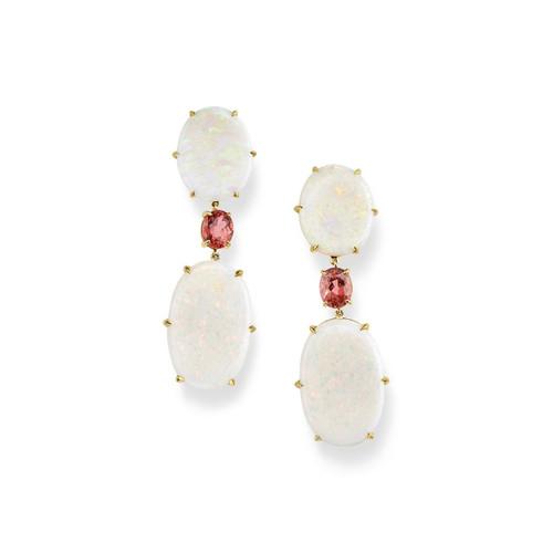 3-Stone Drop Earrings in 18K Gold GE2230MORAOPSL