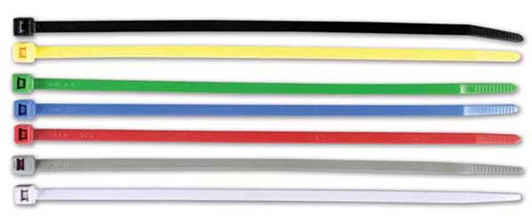 ASSORTED CABLE TIES BLACK, 30PK