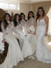 Ivory Mermaid Bridesmaid Dresses with Sleeves,Two Piece Fitted Bridesmaid Dress,11957