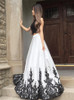 Two Piece Prom Dress for Teens,Open Back Prom Dress,11974