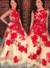 Champagne Red Prom Dresses,Chic Prom Dress Long,11983