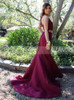Two Piece Mermaid Prom Dress,Taffeta Prom Dress,11988