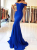 Off the Shoulder Evening Dresses,Mermaid Simple Prom Dress ,11998