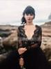 Black Wedding Dresses with Long Sleeves,Tulle Wedding Dress,12071