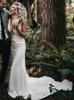 Fitted Mermaid Wedding Dress,Simple Wedding Dress,12171