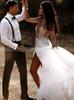 Sexy Wedding Dresses,Boho Bridal Dress with Slit,12181