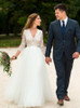 Modest Wedding Dresses,Classic Wedding Dress with 3/4 Length Sleeves,12187